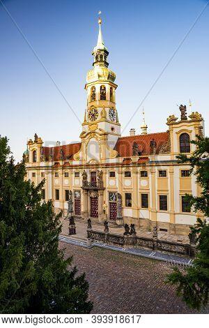 Prague, Czech Republic - September 19, 2020. Palace Of Loreta At Loretanske Square Without Tourists