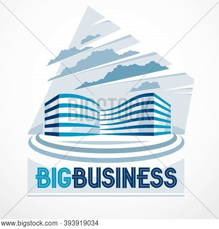 City Building Business Financial Office Vector Design. Futuristic Architecture Illustration. Real Es