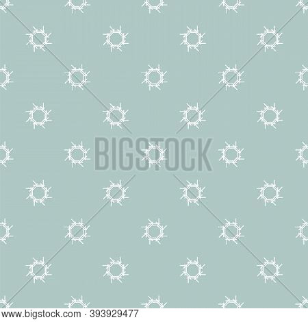 Vector Illustration Icy Snowflakes Seamless Repeat Pattern On A Light Blue Background.