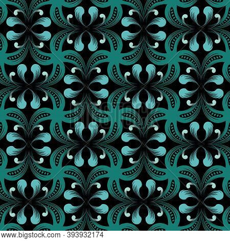 Ethnic Style Paisley Seamless Pattern. Colorful Floral Ornamental Background. Decorative Elegant Rep