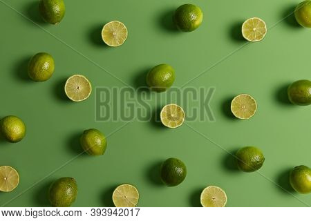 Evergreen Edible Tropical Citrus Limes Provides Juice Or Peel To Food Dishes For Refreshing, Tart Fl