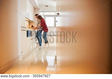Joyous Man Preparing Breakfast For His Spouse