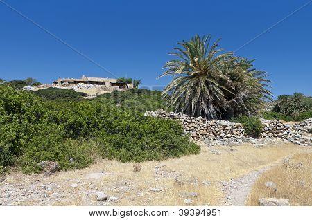 Ancient Itanos area at Crete island