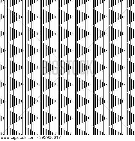 Lines, Stripes, Strokes, Triangles Seamless Pattern. Modern Ornate. Striped Image. Abstract Wallpape