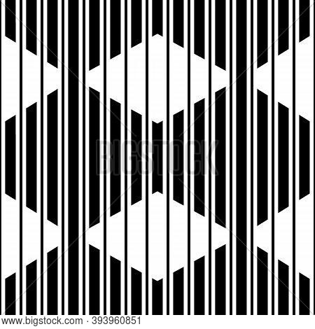 Lines, Stripes, Strokes, Diamonds Seamless Pattern. Modern Ornate. Striped Image. Lined Background.