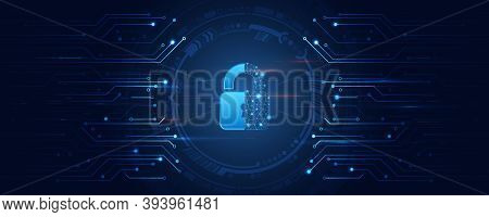 Cybersecurity For Business And Internet Project. Vector Illustration Of Data Security Services. Data
