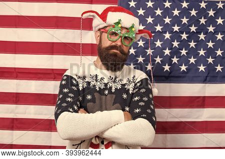 Tradition Of Patriotism. Christmas Tradition From Usa. My Country And Tradition. Liberty And Justice