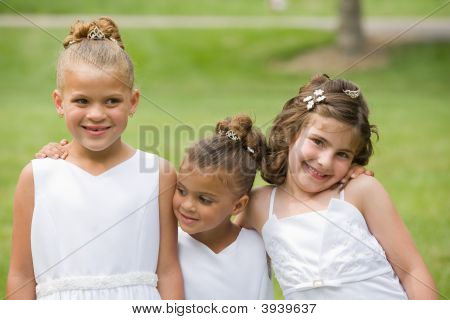 Three Girls At A Wedding