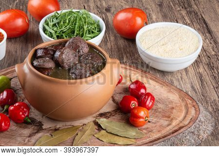 Brazilian Feijoada. Traditional Brazilian Food. Brazilian Cuisine
