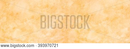 Orange Watercolor Background, Watercolour Painting Soft Textured On Wet White Paper Background, Abst
