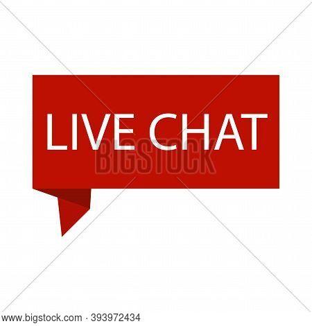 Red Banner Live Chat. Live Stream, Internet Education. Webinar Online Conference. Video Conference I
