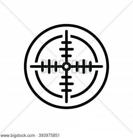 Black Line Icon For Shot Focus Aspiration Ambition Game Dartboard Shooting Shotgun Goal Aim Target