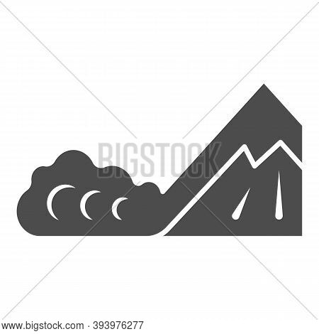 Snow Avalanche Solid Icon, World Snow Day Concept, Natural Disaster Sign On White Background, Winter