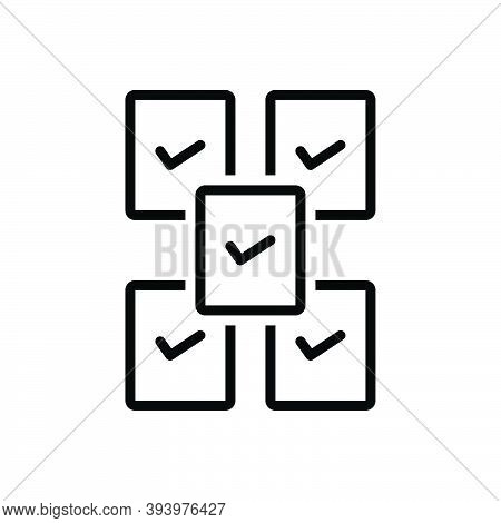 Black Line Icon For Every Each-and-every Entire Complete Each Whole All Check-out