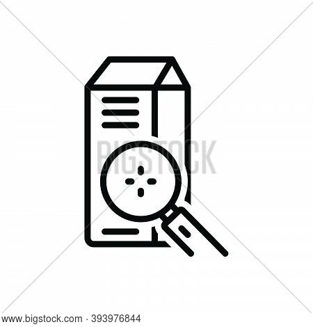 Black Line Icon For Closely Product Magnifying-glass Search Nigh Short Nearby Intimately