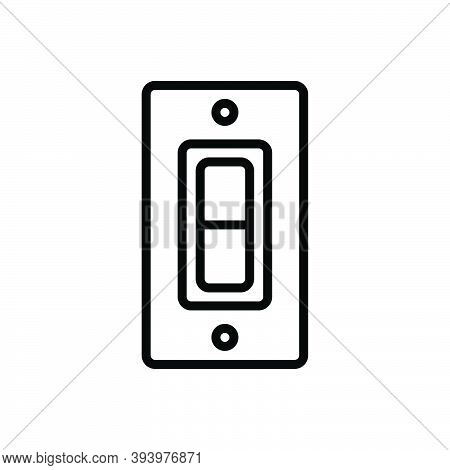 Black Line Icon For Switch Control Circuit-breaker Off On Discontinued Start Electric Power Press