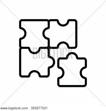 Black Line Icon For Involved Complicated Complex Difficult Puzzle Recognize Infographic