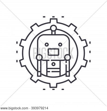 Ai Configuration Icon, Linear Isolated Illustration, Thin Line Vector, Web Design Sign, Outline Conc