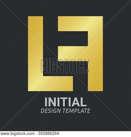 Initial Letter Lf, Fl, F & L Logo Icon Creative Design Template