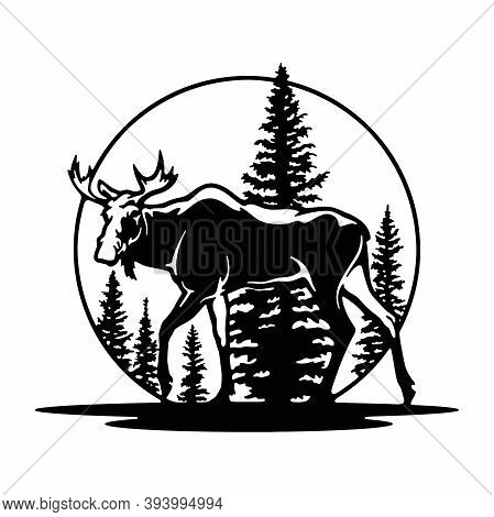 Elk, Moose Wildlife, Wildlife Stencils - Forest Silhouettes For Cricut, Wildlife Clipart, Png Cut Fi