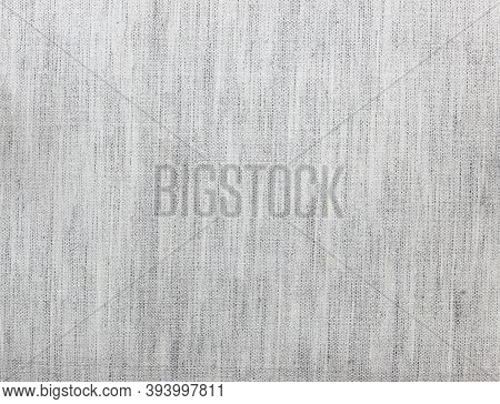 Top View Of Dark Gray Rough Fabric Texture