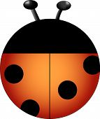 Orange lady bug drawn for a personal icon collection. poster