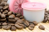 for a good hot coffee, capsules and fresh beans poster