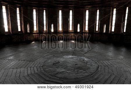 Dark Castle Tower Round Room Interior