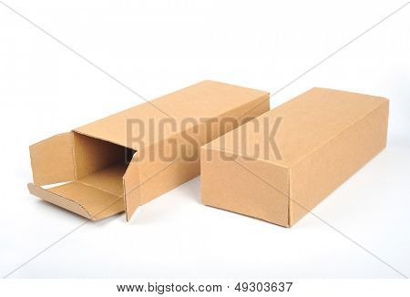 Packing box in white back