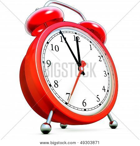 high resolution rendering of a alarm clock poster
