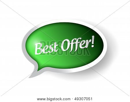 Best Offer Message Bubble Illustration