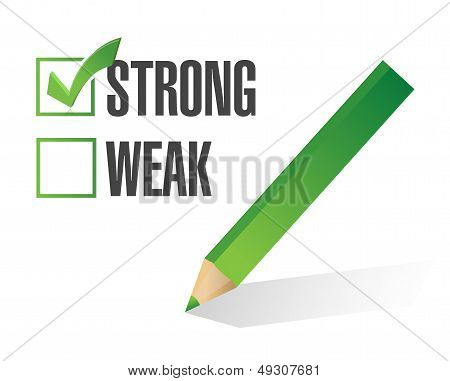 Strong Over Weak Selection Illustration Design