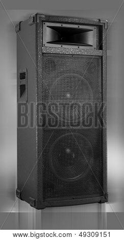 Speaker box isolated on gray