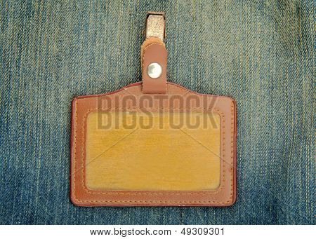Blank name Leather badge