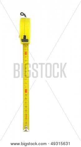 A tape measure with white background