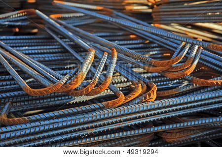 Rusty High Tensile Deformed Steel Bar