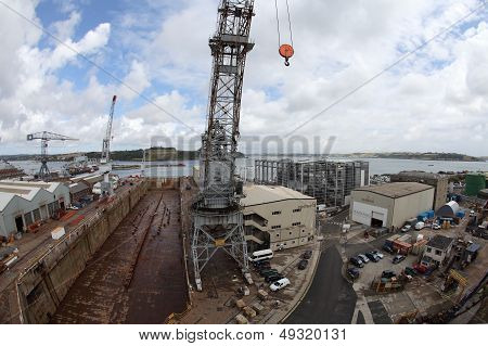 Falmouth Docks, Uk.
