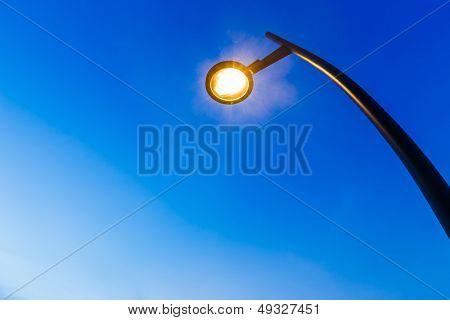 illuminated lighting pole