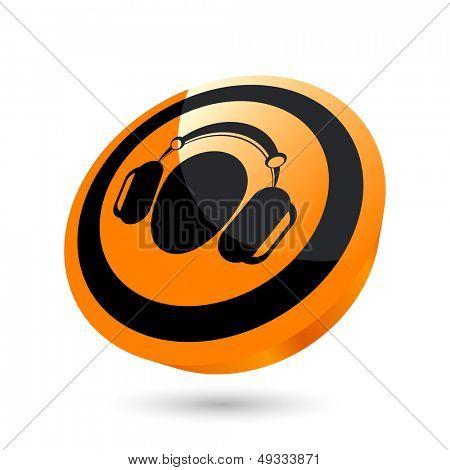 modern headset sign