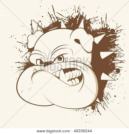 vintage cartoon bulldog