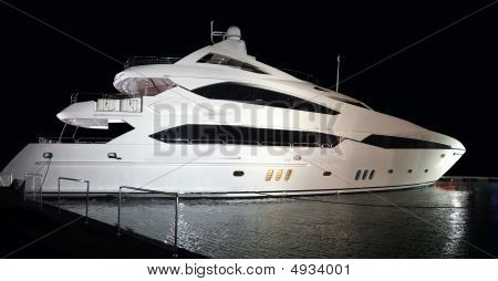 Super Yacht With Clipping Path