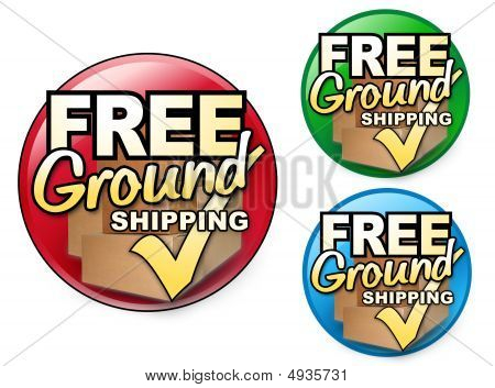 Free Ground Shipping Icons Sets