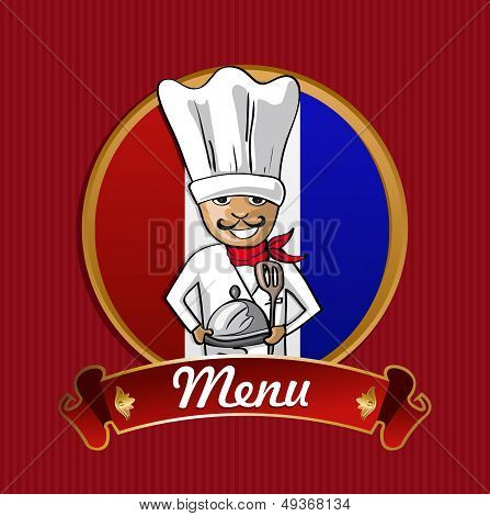 Food From France Menu Poster.