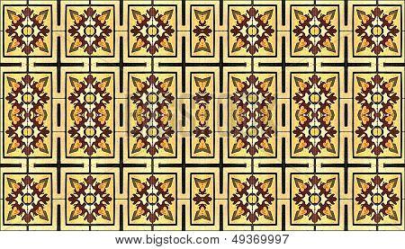 Wide Screen Decorative Fabric Background