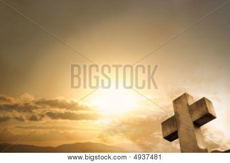 Cross Sunset Background