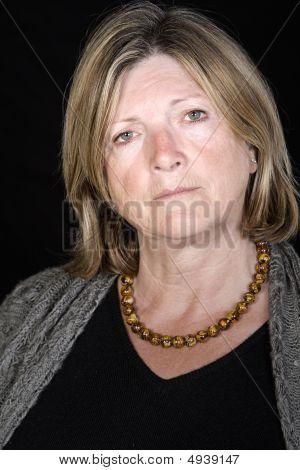 Senior Lady Looking Concerned