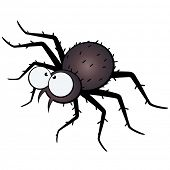 scary spider illustration poster