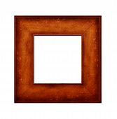Close up of wood Picture Frame with mount poster