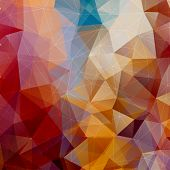 Abstract Triangle Multicolored Background, Vector Illustration EPS10 poster