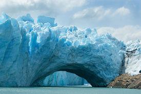 View Of The Magnificent Perito Moreno Glacier, Argentina.